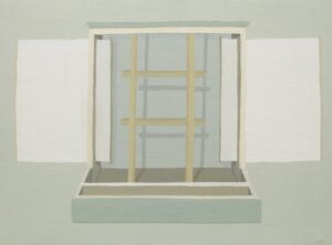 """GloriaMartín. """"Boîtes en Valise"""" 2010-2011. Acrílico sobre lienzo. 24x33cm."""