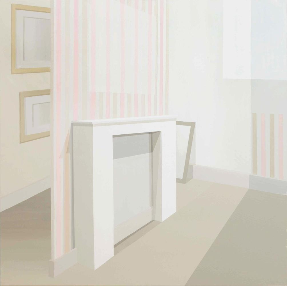 """GloriaMartín. """"La casa de Claudine I"""" 2010. Acrílico sobre lienzo. 100x100cm."""