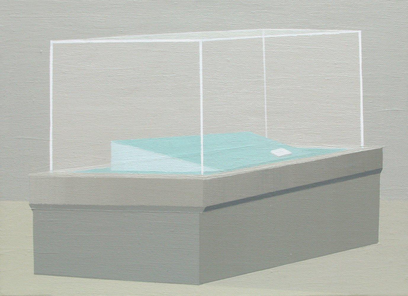 """GloriaMartín. """"Museo Invisible"""" 2011. Acrílico sobre lienzo. 24x33cm."""