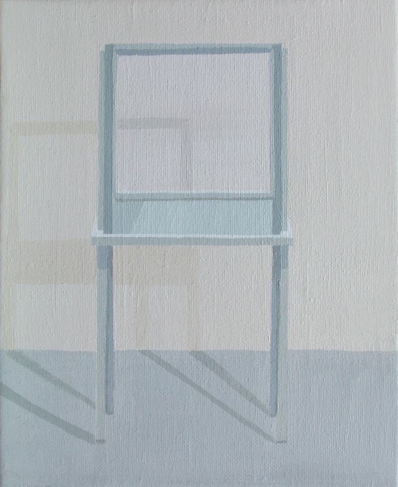"""GloriaMartín. """"Museo Invisible"""" 2011. Acrílico sobre lienzo. 24x19cm."""