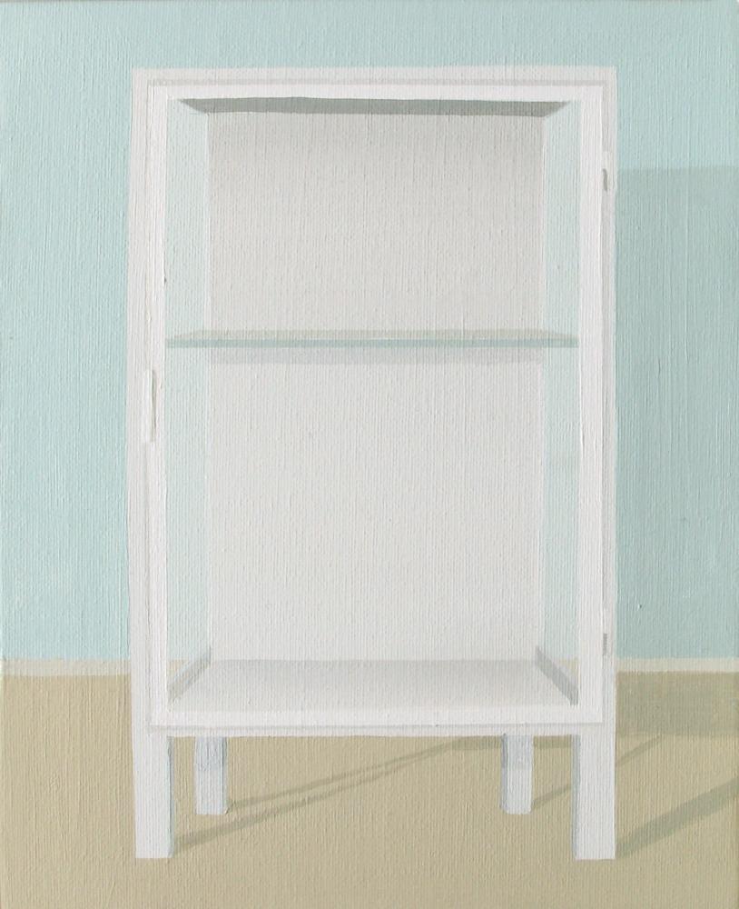 """GloriaMartín. """"Museo Invisible"""" 2011. Acrílico sobre lienzo. 27x22cm."""