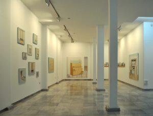 """GloriaMartín. Vista de la exposición """"Voz Hueca"""", Galería Birimbao, Sevilla, Abril 2011."""