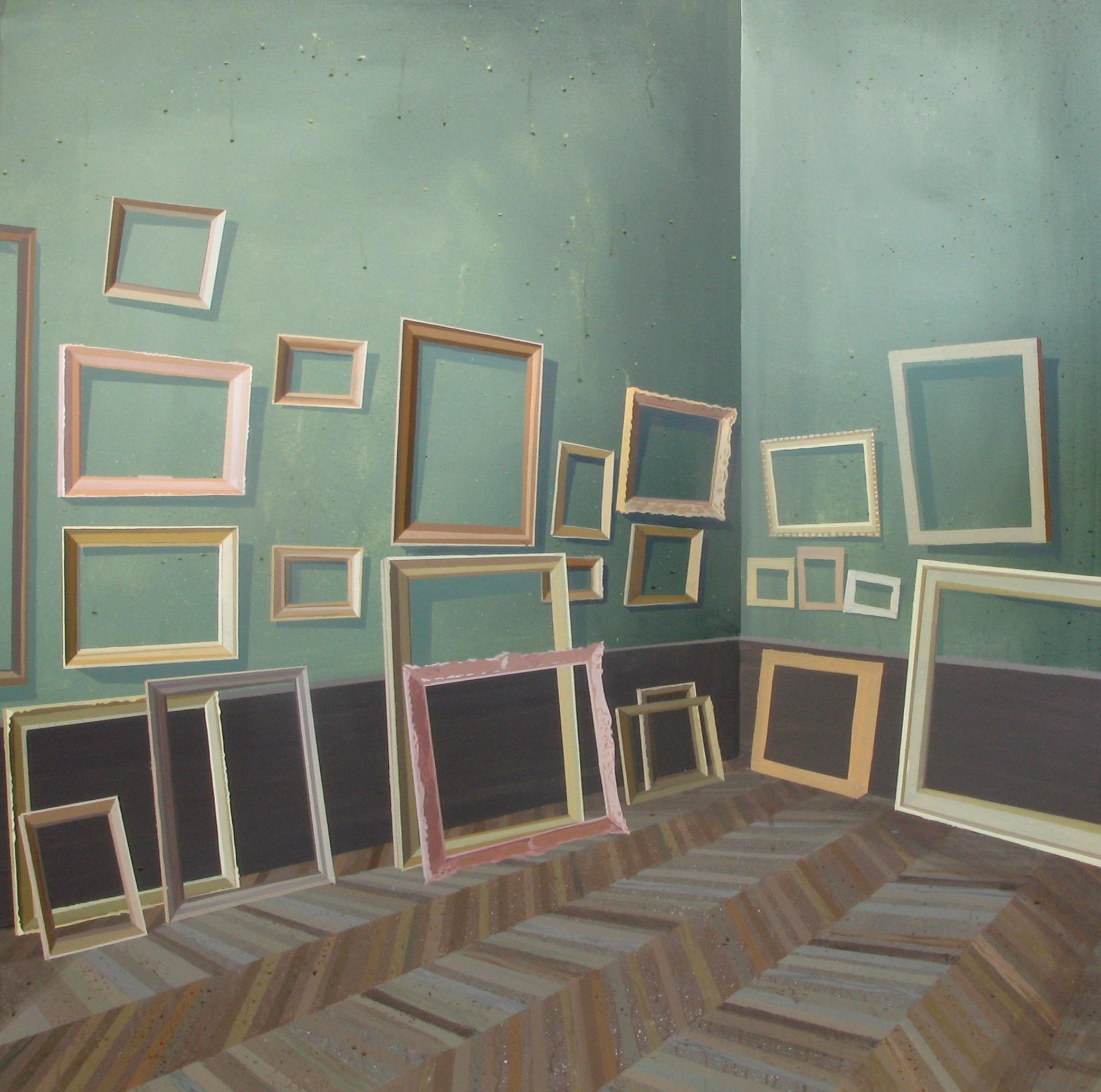 "GloriaMartín. ""Louvre"" 2013. Acrílico sobre lienzo. 100x100cm"