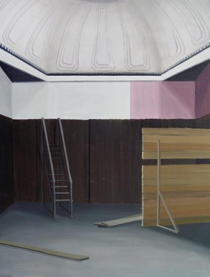 """GloriaMartín. """"Sin título"""", 2014. Óleo sobre lienzo. 116x89cm"""