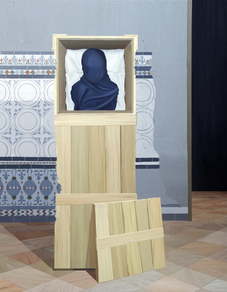 """GloriaMartín. """"El Traslado de la Imagen"""". 2013. 116x89cm."""