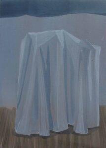 """GloriaMartín. """"El Traslado de la Imagen"""". 2013. Óleo sobre papel. 21x15cm."""