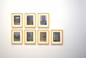 """GloriaMartín. Vista de la exposición """"El Traslado de la Imagen"""". Galería Birimbao. Octubre 2013."""