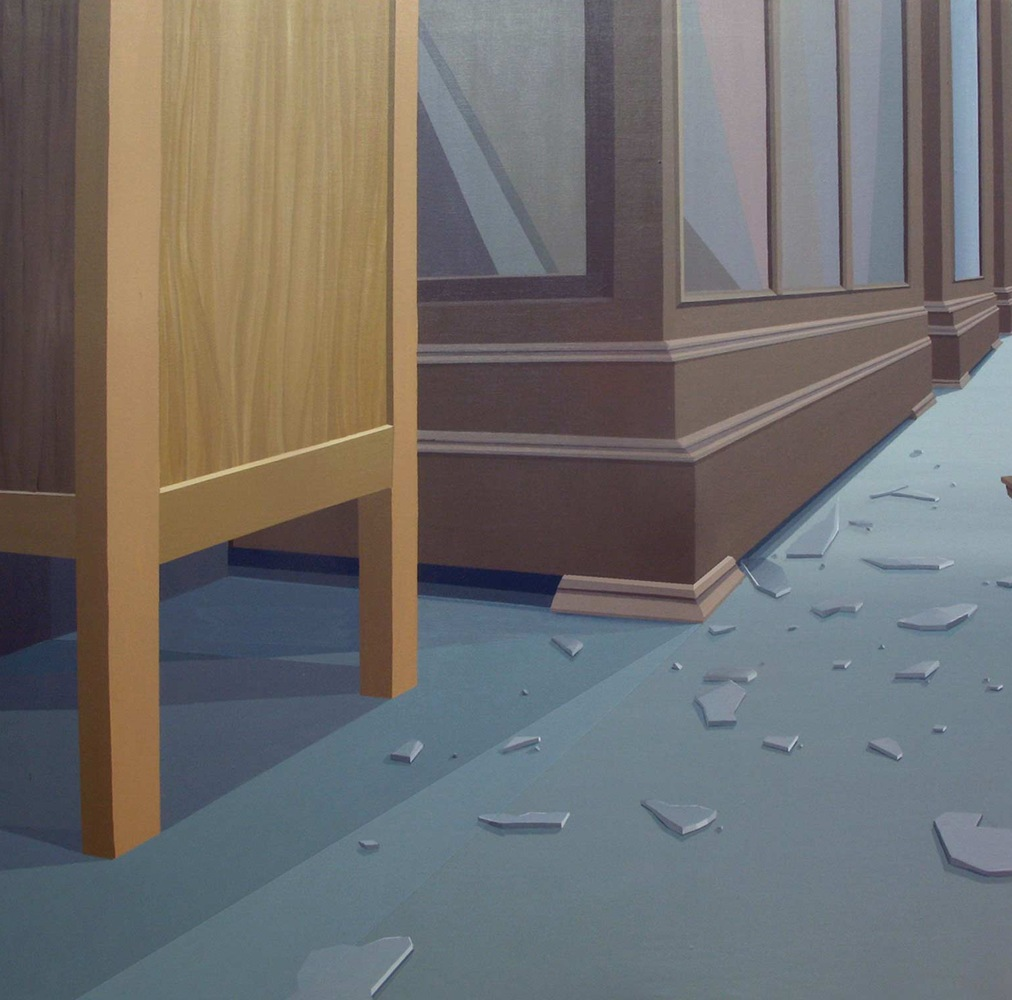 GloriaMartín. Vitrina. 2012. Acrílico sobre lienzo. 100x100cm.