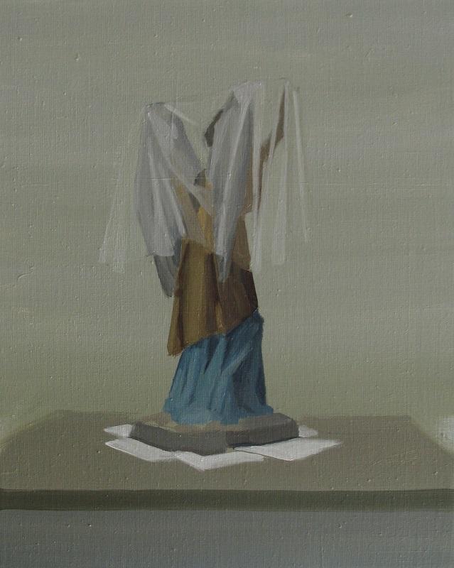 """GloriaMartín. De la serie """"El Traslado de la Imagen"""", 2014. Óleo y acrílico sobre lienzo. 41x33cm"""