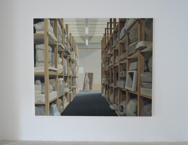 """Vista de la exposición """"Des-Aura"""" Galería Silvestre. Tarragona. Abril 2015."""