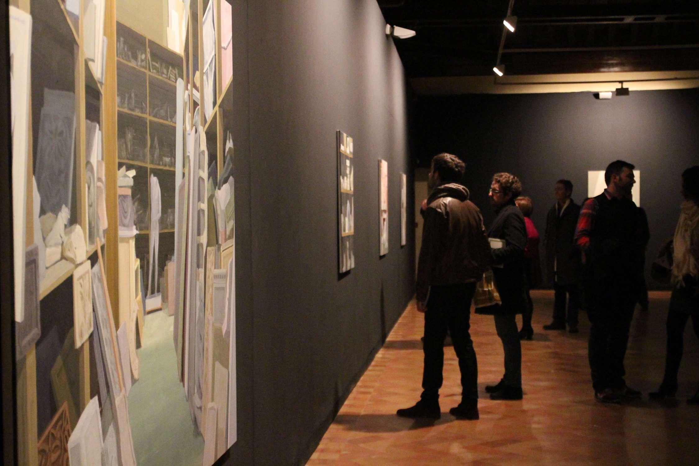 """GloriaMartín. Vista de la exposicion """"Taller de Moldes"""". Centro de las Artes de Sevilla. Enero 2015."""