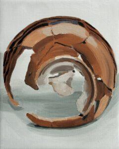 "GloriaMartín. ""Ceramica Pintada"". 2017. Óleo sobre lienzo 24x19cm"