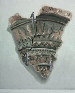 "GloriaMartín. ""Ceramica Pintada"". 2017. Óleo sobre lienzo 27x22cm"