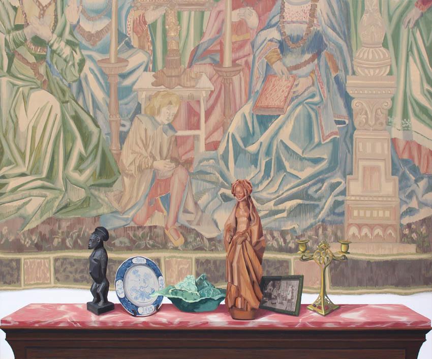 """Gloria Martín. """"Lo Flamenco"""" 2016. óleo sobre lienzo. 162x195cm."""