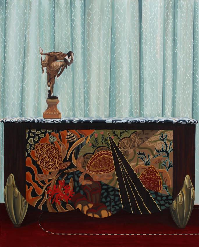 "Gloria Martín. ""ArtDecó"" 2016. Óleo sobre lienzo. 162x130cm."