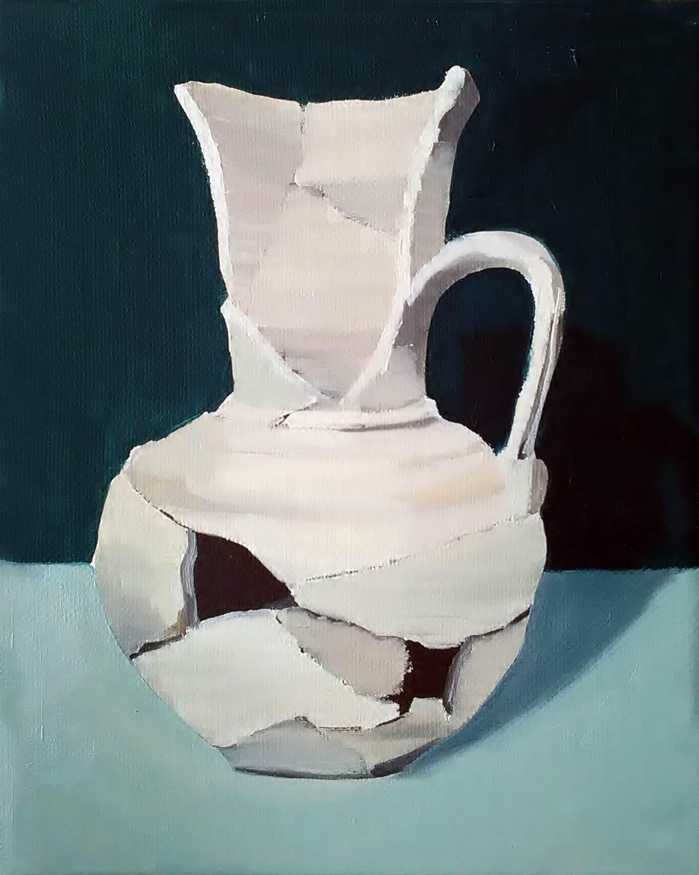 "Gloria Martín ""Cerámica Pintada"" (Cartuja) Óleo sobre lienzo. 27x22cm"