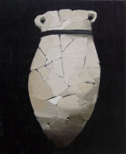 "Gloria Martín. ""Cerámica Pintada"" (Ánfora Pequeña) 2016. Óleo sobre lienzo 27x22cm"
