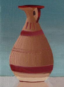"Gloria Martín. ""Cerámica Pintada"" 2016. Óleo sobre lienzo. 22x16cm."