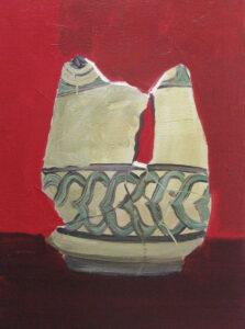 "Gloria Martín ""Cerámica Pintada"" (Medina) 2016 Óleo sobre lienzo 22x16cm."