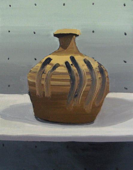 "Gloria Martín. ""Cerámica Pintada"" (Mano de fátima) 2016. Óleo sobre lienzo. 33x24cm"