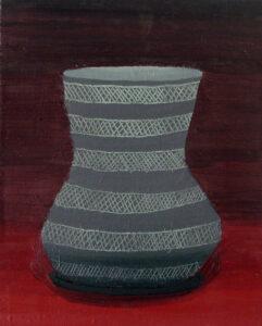 "Gloria Martín. ""Cerámica Pintada"" 2016. Óleo sobre lienzo. 27x22cm."