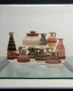 "Gloria Martín. ""Cerámica Pintada"" (Museo). 2016. Óleo sobre lienzo. 70x63cm"