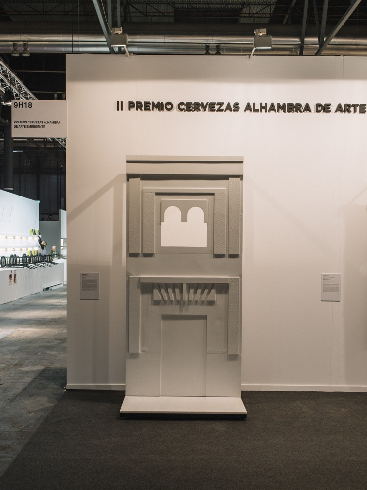 Gloria Martin. Escultura en Árabe, II Premio Cervezas Alhambra. Arco'18