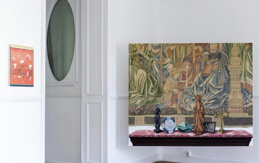Gloria Martin. Anticuarios. 2016. Vista Instalación Casa Leibniz. Palacio Santa Bárbara. Madrid. Febrero 2016