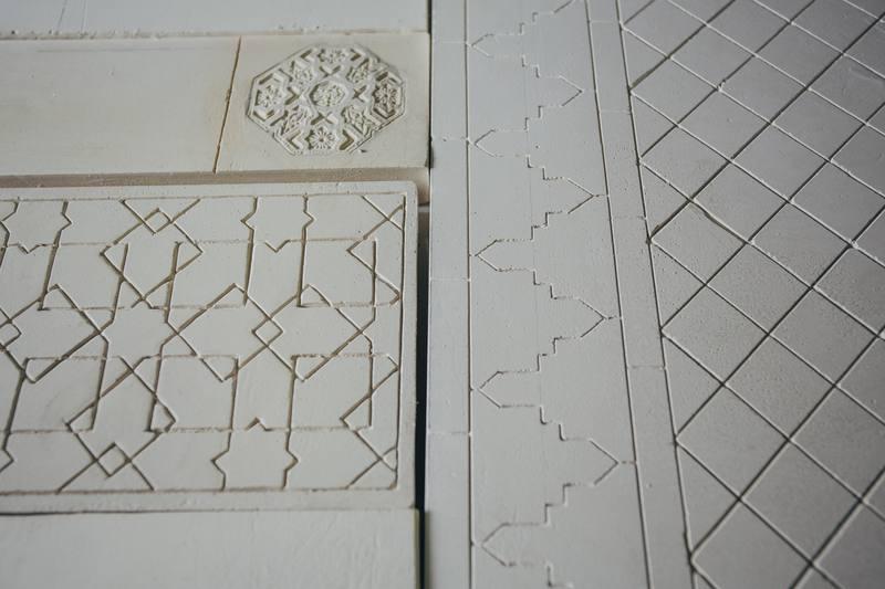 GloriaMartín. Yeseria. Escultura en Arabe. Procesos. PremioCervezasAlhambra. 2018
