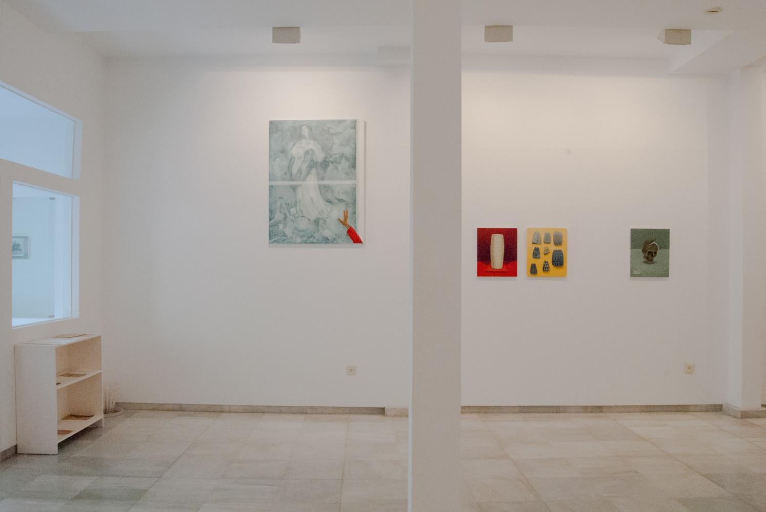 """Gloria Martin. Vista de la exposición """"Bien de Interés Cultural"""" Galería Birimbao, Sevilla, Marzo 2017"""