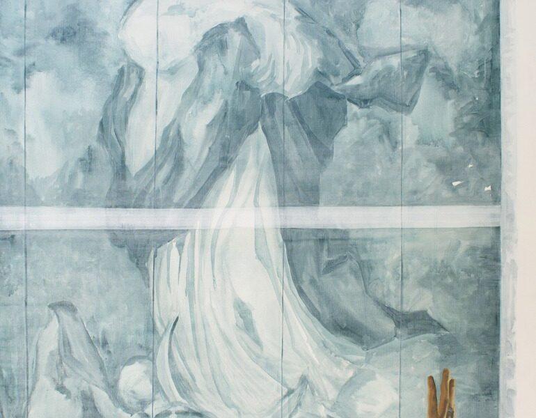 """GloriaMartin. """"Inmaculada y consejera"""", 2017 Óleo sobre lienzo 114X89cm"""
