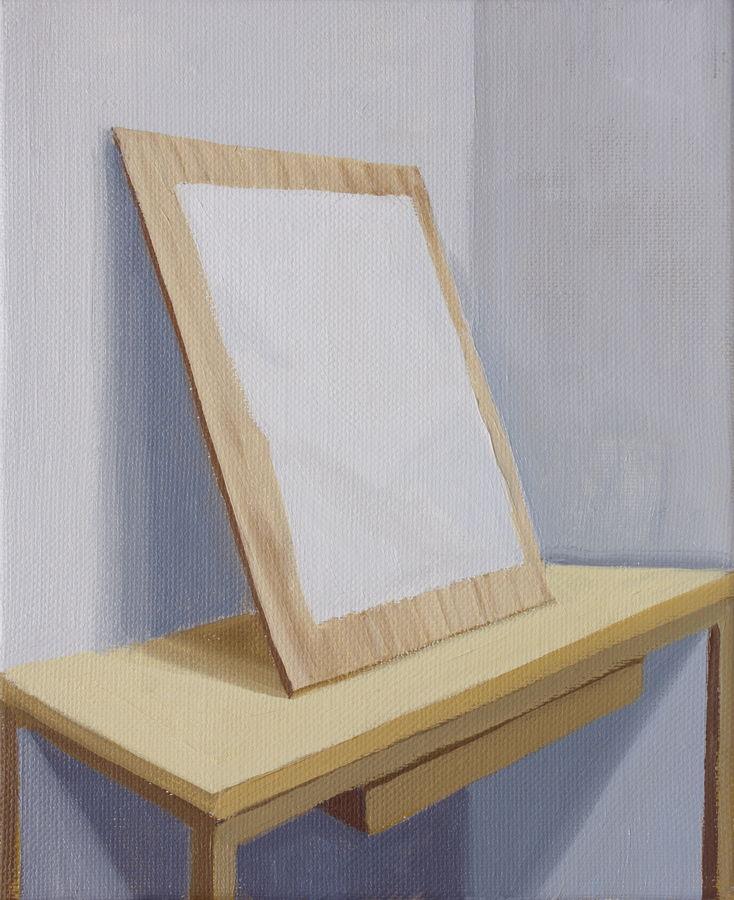 "GloriaMartin. ""Modelo y Modo"" (Serie tratados) III Óleo sobre lienzo. 2018. 27x22cm."