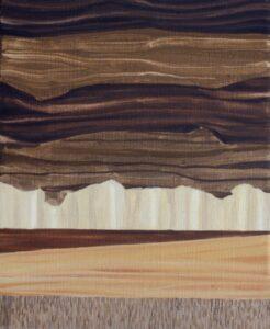GloriaMartin. Sin título (madera) Óleo sobre lienzo. 27x22cm.