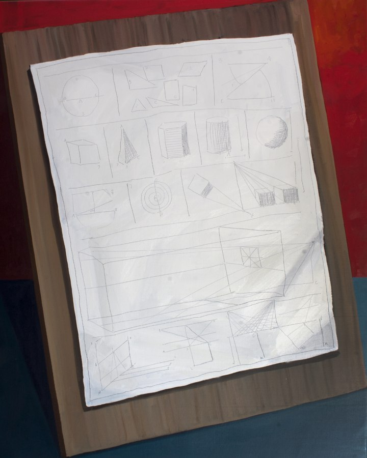 "GloriaMartin. ""Tratado"" 2018-19. Óleo sobre lienzo. 92x73cm."
