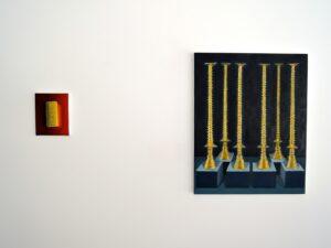 """Gloria Martín. Vista de la exposición """"ORO"""" Galería Silvestre, Tarragona, Abril 2017"""