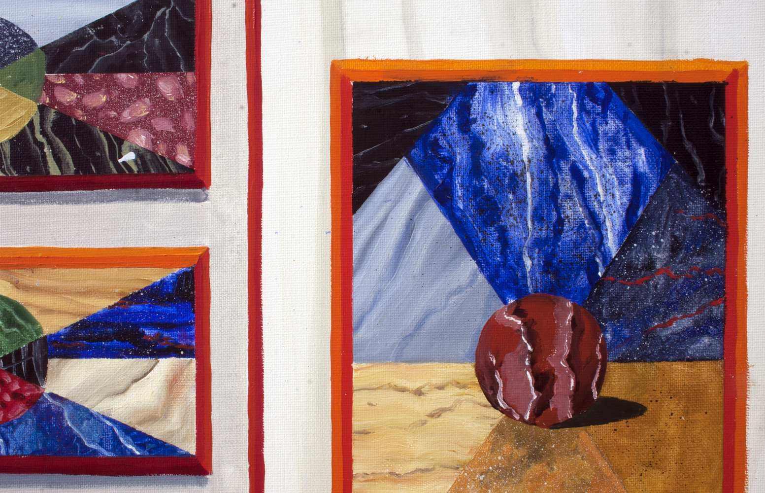 "GloriaMartin. ""Bargueño"" (detalle) 2017. Óleo sobre lienzo 100x81cm."