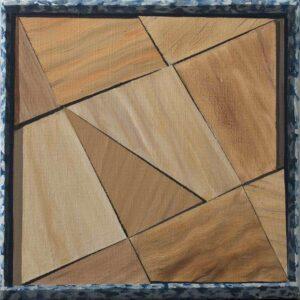 """GloriaMartin. """"Caja 7"""". 2019. Óleo sobre lienzo. 38x46cm."""
