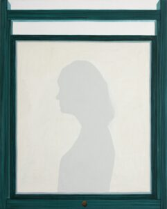 "GloriaMartin. ""Siluetógrafo"". 2019. Óleo sobre lienzo. 81x65cm."